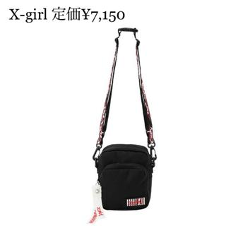 エックスガール(X-girl)の【値段交渉可】エックスガール X-girl ロゴ ショルダーバッグ 黒 バッグ (ショルダーバッグ)