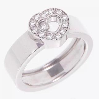 ショパール(Chopard)のChopard ショパール ハッピーダイヤモンド リング・指輪 K18WG#55(リング(指輪))