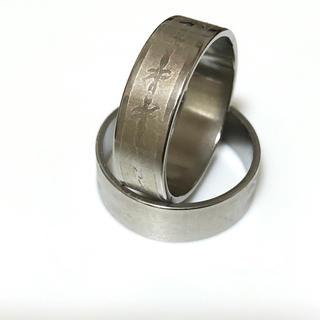 同時購入で300円 ステンレス指輪有刺鉄線(リング(指輪))