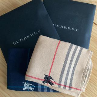 BURBERRY - バーバリーハンカチタオル2枚セット