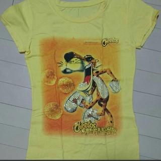 黄色 トラ タイガー キラキラストーンTシャツ(Tシャツ(半袖/袖なし))