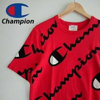 チャンピオン(Champion)の745 激レア 新品タグ付 チャンピオン 海外限定 デカロゴ 総柄 Tシャツ(Tシャツ/カットソー(半袖/袖なし))