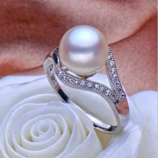 【1点限】溜まったマイナスエネルギーを綺麗にする•白系 淡水真珠 パールリング(リング(指輪))