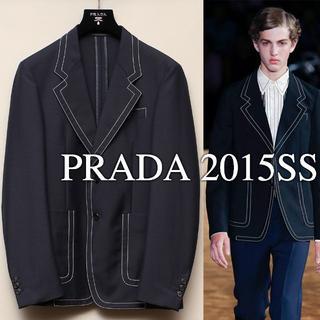 プラダ(PRADA)のPRADA 2015SS ネイビージャケット 0番ステッチ(テーラードジャケット)