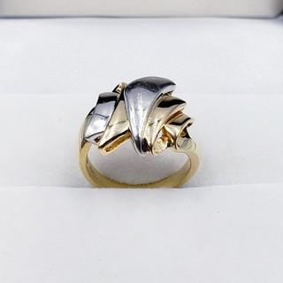 18金イエローゴールド プラチナPT900 リング 7.0g ☆送料無料☆(リング(指輪))
