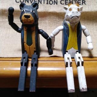 ニコアンド(niko and...)のニコアンドで買った木の置物二体(置物)