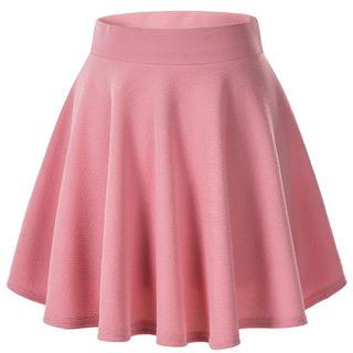 ピンク スカート レディース ミニスカート かわいい Aライン ハイウエスト