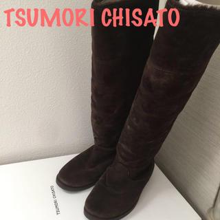 ツモリチサト(TSUMORI CHISATO)のツモリチサト ロングブーツ ムートン調(ブーツ)