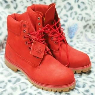 ティンバーランド(Timberland)の試着のみ 美品 最終値下げ Timberland ブーツ 赤  red(ブーツ)