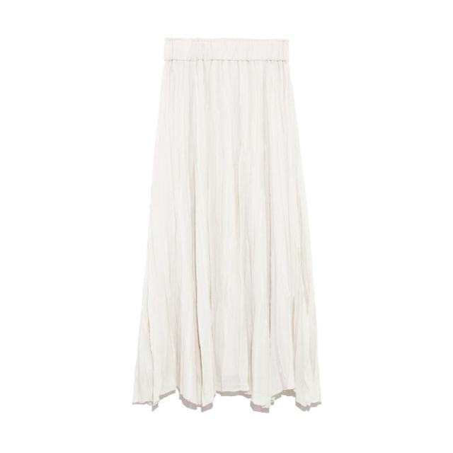 Mila Owen(ミラオーウェン)の今期☆ミラオーウェン  ウールワッシャーロングスカート レディースのスカート(ロングスカート)の商品写真
