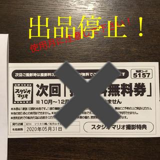 キタムラ(Kitamura)のスタジオマリオ撮影無料券(その他)