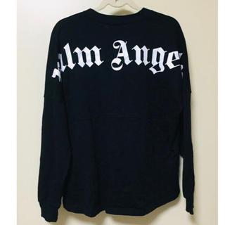 パーム(PALM)のPalm Angels ブラック ロングシャツ トレーナー(Tシャツ/カットソー(七分/長袖))