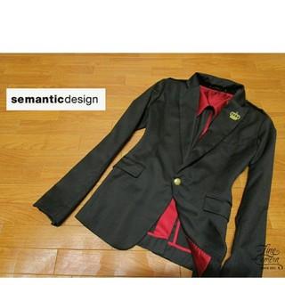 semantic design - メンズM ◇semantic design◇ テーラードジャケット 黒