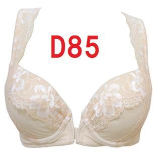 D85・ベージュ◇背筋すっきりフロントホックブラジャー◇補正下着《516》(ブラ)