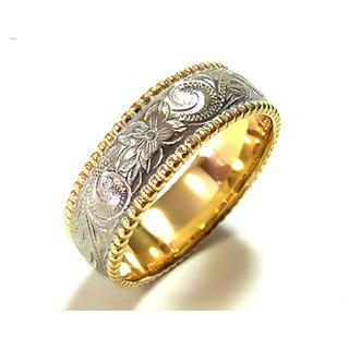 リング ジュエリーステンレスリング 指輪 イエローゴールド ハワイアン