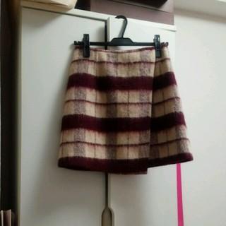マーキュリーデュオ(MERCURYDUO)のMERCURYDUO起毛チェックスカート(ミニスカート)
