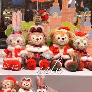 ディズニー(Disney)の上海ディズニー♡クリスマス新作✨ダッフィー&フレンズぬいぐるみセット(ぬいぐるみ)