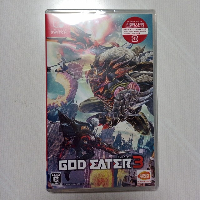GOD EATER 3 Nintendo Switch版 エンタメ/ホビーのゲームソフト/ゲーム機本体(家庭用ゲームソフト)の商品写真