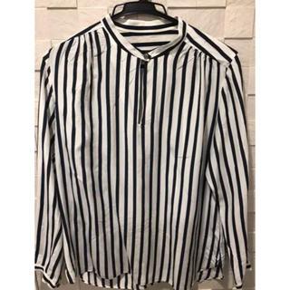 TOMORROWLAND - トゥモローランド ストライプシャツ40%シルク