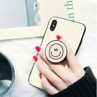 白色 iphone7/8 iphoneケース&エアバックスタンド 折り畳み式