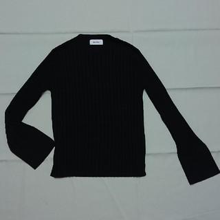 ミラオーウェン(Mila Owen)のミラオーウェンリブニットセーター紺フリー(ニット/セーター)