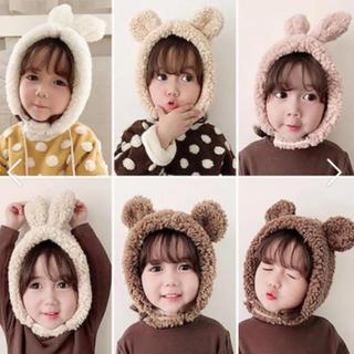 petit main - 海外子供服 帽子 くまさん帽 ニット帽 韓国子供服