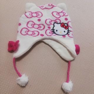 ハローキティ(ハローキティ)の冬用 帽子 キティ 50~52cm (帽子)