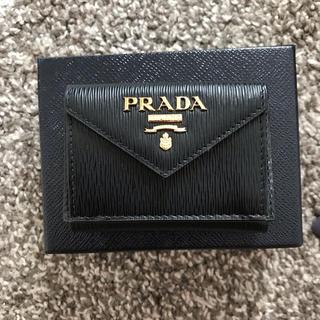 PRADA - 新品 未使用  プラダ  ミニ財布  黒