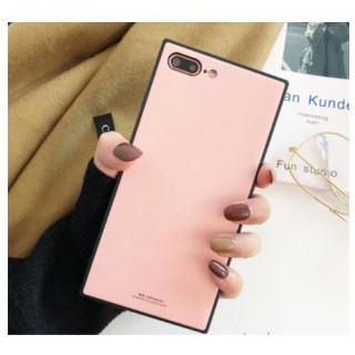 スクエア iPhone X ケース ピンク スマホカバー 光沢
