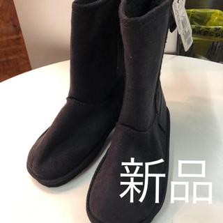 オリンカリ(OLLINKARI)の新品オリンカリ 黒ムーンブーツ定価3885円サイズ21(ブーツ)