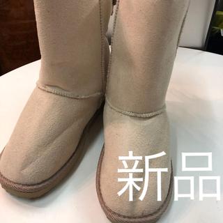 オリンカリ(OLLINKARI)の新品オリンカリ白ムーンブーツ定価3885円サイズ21(ブーツ)