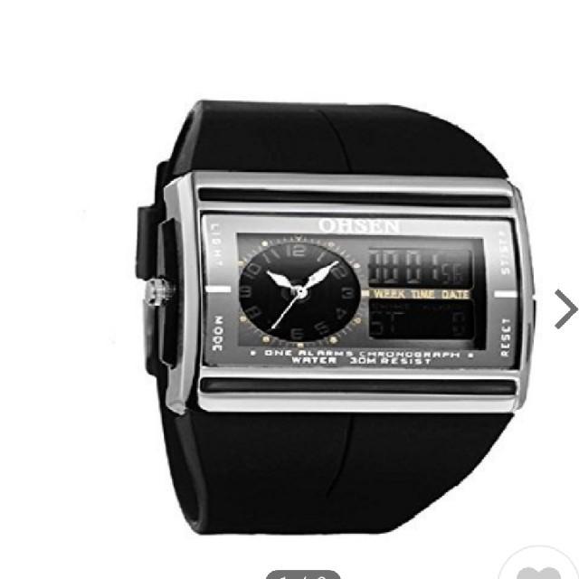 OHSEN メンズ 腕時計(アナログデジタル マルチ表示機能)  の通販