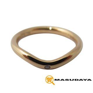 ティファニー(Tiffany & Co.)のティファニーエレサペレッティ1PダイヤカーブドバンドリングK18YG【美品】(リング(指輪))