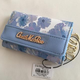 セシルマクビー(CECIL McBEE)の新品 セシルマクビー 花柄 キーケース ブルー(キーケース)