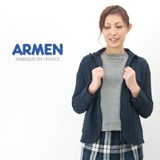 アーメン(ARMEN)のarmen*コットンキルト シャツカラージャケット[0] 黒(その他)