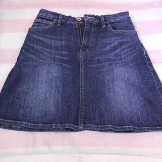 デニム生地 台形スカート(ミニスカート)