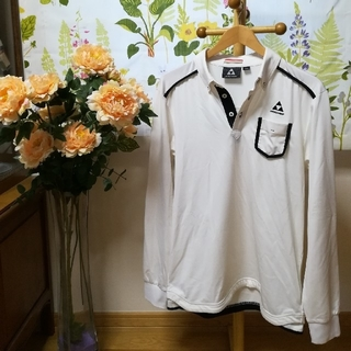✨FISCHER(フィッシャー)白黒長袖シャツ2L