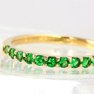 専用 美品 bizoux ツァボライト グリーンガーネット(リング(指輪))