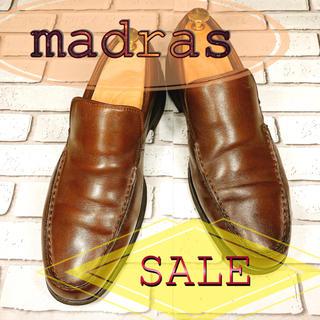 マドラス(madras)の【SALE】madras マドラス スニーカー スリッポン 茶 ブラウン(スニーカー)