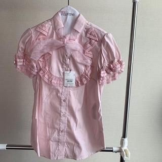 レッドヴァレンティノ(RED VALENTINO)のRed Valentino♡ピンク リボン付きブラウス♡新品(シャツ/ブラウス(半袖/袖なし))