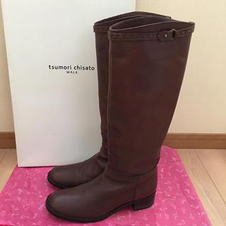 ツモリチサト(TSUMORI CHISATO)のtsumori chisato WALK ロングブーツ ダークブラウン(ブーツ)