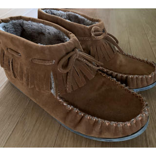 一度使用 今年1月購入 ブーツ ブラウンレディース(ブーツ)
