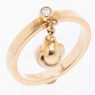 カルティエ(Cartier)のカルティエベビートリニティリング三色ゴールド1Pダイヤ指輪53号(リング(指輪))
