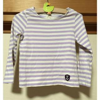 グリーンレーベルリラクシング(green label relaxing)のお値引き実施中!! グリンキッズ ボーダーTシャツ115cm(Tシャツ/カットソー)
