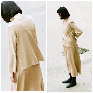 ヤエカ(YAECA)のTHE HINOKI♡オーガニックコットンレイヤードドレス(ロングワンピース/マキシワンピース)