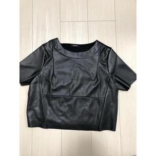 エモダ(EMODA)のEMODA  トップス  レザーショートカットソー(カットソー(半袖/袖なし))