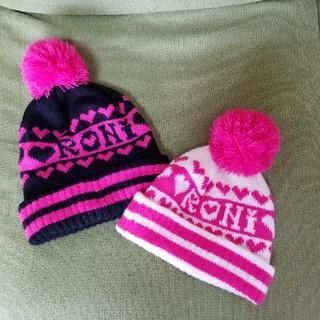 ロニィ(RONI)のRONI♪ ニット帽(黒Lサイズ)(帽子)