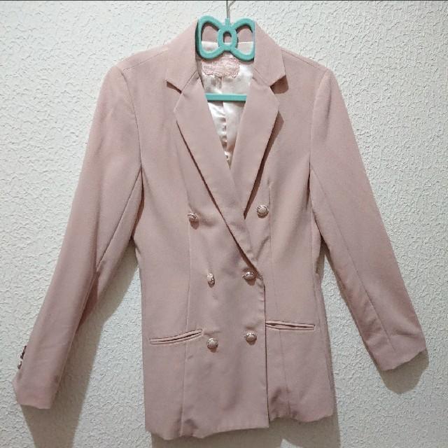 しまむら(シマムラ)のくすみピンク テーラード ジャケット♥夢展望 GU レディースのジャケット/アウター(テーラードジャケット)の商品写真