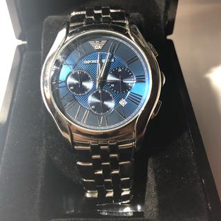 エンポリオアルマーニ(Emporio Armani)の[極美品]EMPORIO ARMANI腕時計/ブルーダイアル/クラシック(腕時計(アナログ))