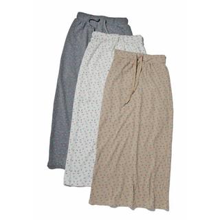 ウィゴー(WEGO)のワッフル生地/花柄スカート(ロングスカート)